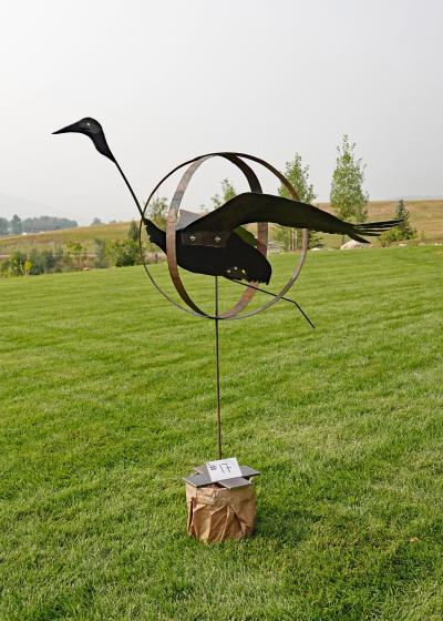 our featured Yard Art Crane