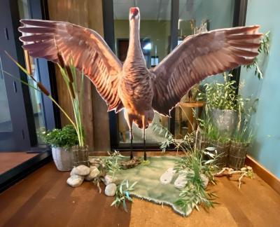 Ichabod- our life-size crane!