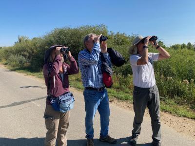 Birders at the bird walk at Loudy-Simpson